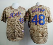 Wholesale Cheap Mets #48 Jacob DeGrom Camo Alternate Cool Base Stitched MLB Jersey