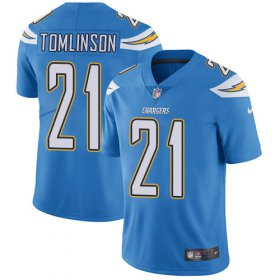 Wholesale Cheap Nike Chargers #21 LaDainian Tomlinson Electric Blue Alternate Youth Stitched NFL Vapor Untouchable Limited Jersey