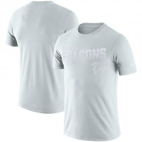 Wholesale Cheap Atlanta Falcons Nike NFL 100 2019 Sideline Platinum Performance T-Shirt White