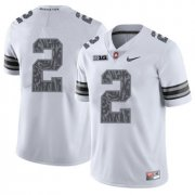 Wholesale Cheap Ohio State Buckeyes 2 J.K. Dobbins White Shadow College Football Jersey
