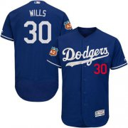 Wholesale Cheap Dodgers #30 Maury Wills Blue Flexbase Authentic Collection Stitched MLB Jersey