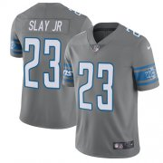 Wholesale Cheap Nike Lions #23 Darius Slay Jr Gray Youth Stitched NFL Limited Rush Jersey