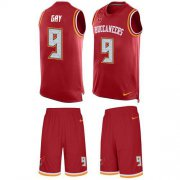 Wholesale Cheap Nike Buccaneers #9 Matt Gay Red Team Color Men's Stitched NFL Limited Tank Top Suit Jersey