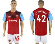 Wholesale Cheap West Ham United #42 Samuelsen Home Soccer Club Jersey