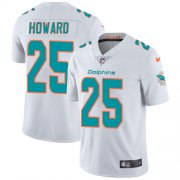 Wholesale Cheap Nike Dolphins #25 Xavien Howard White Men's Stitched NFL Vapor Untouchable Limited Jersey