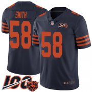 Wholesale Cheap Nike Bears #58 Roquan Smith Navy Blue Alternate Men's Stitched NFL 100th Season Vapor Limited Jersey