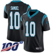 Wholesale Cheap Nike Panthers #10 Curtis Samuel Black Team Color Men's Stitched NFL 100th Season Vapor Limited Jersey