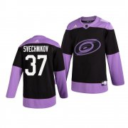 Wholesale Adidas Hurricanes #79 Michael Ferland Purple Authentic Fights Cancer Stitched NHL Jersey