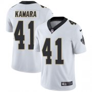 Wholesale Cheap Nike Saints #41 Alvin Kamara White Men's Stitched NFL Vapor Untouchable Limited Jersey