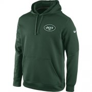 Wholesale Cheap New York Jets Nike KO Chain Fleece Pullover Performance Hoodie Green