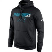 Wholesale Cheap Men's Carolina Panthers Nike Black Kick Off Staff Performance Pullover Hoodie