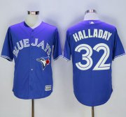Wholesale Cheap Blue Jays #32 Roy Halladay Blue New Cool Base Stitched MLB Jersey