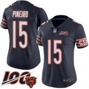 Wholesale Cheap Nike Bears #15 Eddy Pineiro Navy Blue Team Color Women's Stitched NFL 100th Season Vapor Limited Jersey