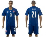 Wholesale Cheap Slovakia #21 Duris Blue Away Soccer Country Jersey