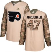 Wholesale Cheap Adidas Flyers #47 Andrew MacDonald Camo Authentic 2017 Veterans Day Stitched NHL Jersey