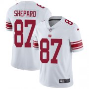 Wholesale Cheap Nike Giants #87 Sterling Shepard White Youth Stitched NFL Vapor Untouchable Limited Jersey