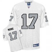 Wholesale Cheap Raiders #17 Denarius Moore White Silver Grey No. Stitched NFL Jersey