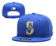 Wholesale Cheap Mariners Team Logo Blue Adjustable Hat YD