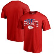 Wholesale Cheap Men's Kansas City Chiefs Pro Line by Fanatics Branded Red Banner Wave T-Shirt