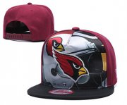Wholesale Cheap Arizona Cardinals Team Logo Red Black Adjustable Leather Hat TX