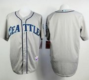 Wholesale Cheap Mariners Blank Grey Cool Base Stitched MLB Jersey