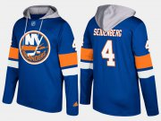 Wholesale Cheap Islanders #4 Dennis Seidenberg Blue Name And Number Hoodie