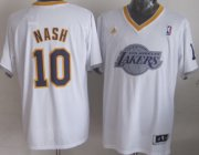 Wholesale Cheap Los Angeles Lakers #10 Steve Nash Revolution 30 Swingman 2013 Christmas Day White Jersey