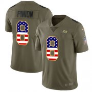 Wholesale Cheap Nike Buccaneers #8 Bradley Pinion Olive/USA Flag Men's Stitched NFL Limited 2017 Salute To Service Jersey
