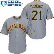 Wholesale Cheap Pirates #21 Roberto Clemente Grey Cool Base Stitched Youth MLB Jersey