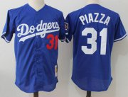 Wholesale Cheap Mitchell And Ness 1997 Dodgers #31 Mike Piazza Blue Throwback Stitched MLB Jersey