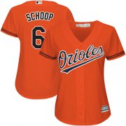 Wholesale Cheap Orioles #6 Jonathan Schoop Orange Alternate Women's Stitched MLB Jersey