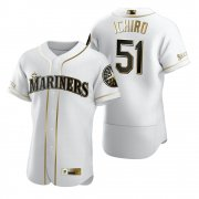Wholesale Cheap Seattle Mariners #51 Ichiro Suzuki White Nike Men's Authentic Golden Edition MLB Jersey