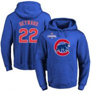 Wholesale Cheap Cubs #22 Jason Heyward Blue 2016 World Series Champions Primary Logo Pullover MLB Hoodie