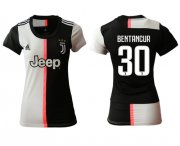 Wholesale Cheap Women's Juventus #30 Bentancur Home Soccer Club Jersey