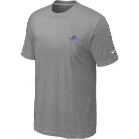 Wholesale Cheap Nike Detroit Lions Chest Embroidered Logo T-Shirt Grey