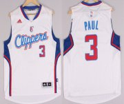 Wholesale Cheap Los Angeles Clippers #3 Chris Paul Revolution 30 Swingman 2014 New White Jersey