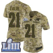 Wholesale Cheap Nike Rams #21 Aqib Talib Camo Super Bowl LIII Bound Women's Stitched NFL Limited 2018 Salute to Service Jersey