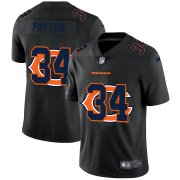 Wholesale Cheap Chicago Bears #34 Walter Payton Men's Nike Team Logo Dual Overlap Limited NFL Jersey Black