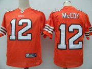 Wholesale Cheap Browns #12 Colt McCoy Orange Stitched NFL Jersey