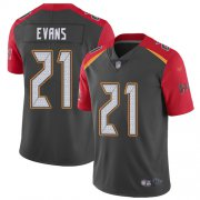 Wholesale Cheap Nike Buccaneers #21 Justin Evans Gray Men's Stitched NFL Limited Inverted Legend Jersey