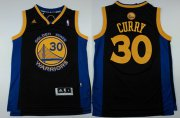 Wholesale Cheap Golden State Warriors #30 Stephen Curry Revolution 30 Swingman Black Jersey