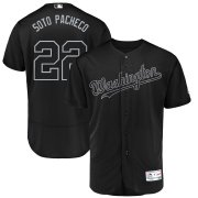 Wholesale Cheap Washington Nationals #22 Juan Soto Soto Pacheco Majestic 2019 Players' Weekend Flex Base Authentic Player Jersey Black