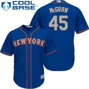 Wholesale Cheap Mets #45 Tug McGraw Blue(Grey NO.) Cool Base Stitched Youth MLB Jersey
