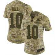 Wholesale Cheap Nike Chiefs #10 Tyreek Hill Camo Women's Stitched NFL Limited 2018 Salute to Service Jersey