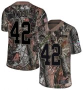Wholesale Cheap Nike Chargers #42 Uchenna Nwosu Camo Men's Stitched NFL Limited Rush Realtree Jersey