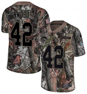 Wholesale Cheap Nike Chargers #42 Uchenna Nwosu Camo Men\'s Stitched NFL Limited Rush Realtree Jersey