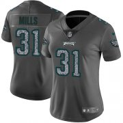 Wholesale Cheap Nike Eagles #31 Jalen Mills Gray Static Women's Stitched NFL Vapor Untouchable Limited Jersey