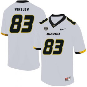 Wholesale Cheap Missouri Tigers 83 Kellen Winslow White Nike College Football Jersey