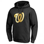 Wholesale Cheap Washington Nationals Gold Collection Pullover Hoodie Black