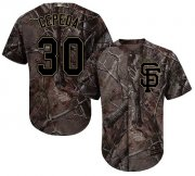 Wholesale Cheap Giants #30 Orlando Cepeda Camo Realtree Collection Cool Base Stitched MLB Jersey